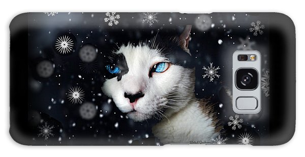 Siamese Cat Snowflakes Image   Galaxy Case