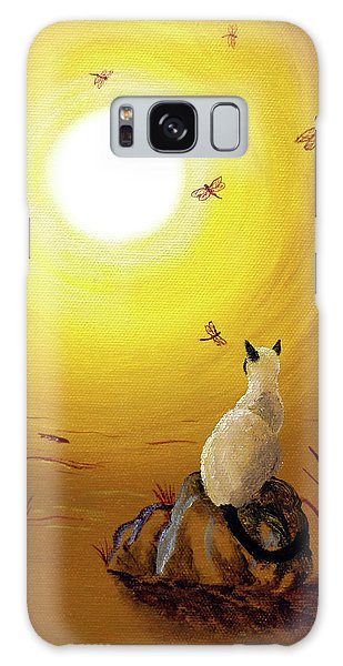 Siamese Cat With Red Dragonflies Galaxy Case