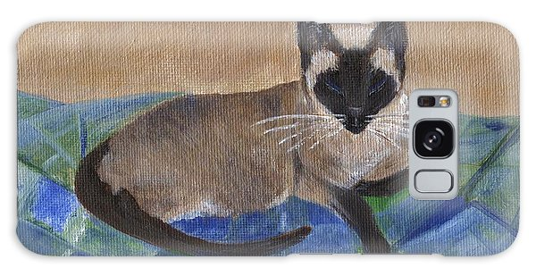 Galaxy Case featuring the painting Siamese Nap by Jamie Frier