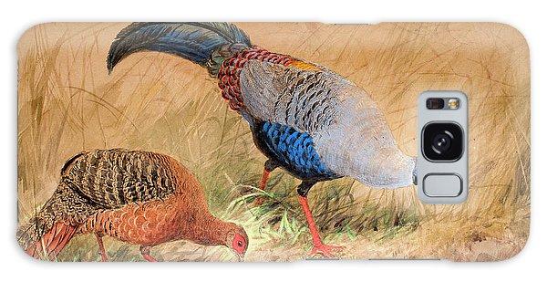 Siamese Pheasant  Galaxy Case by Joseph Wolf