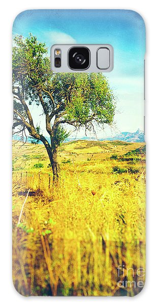 Galaxy Case featuring the photograph Sicilian Landscape With Tree by Silvia Ganora