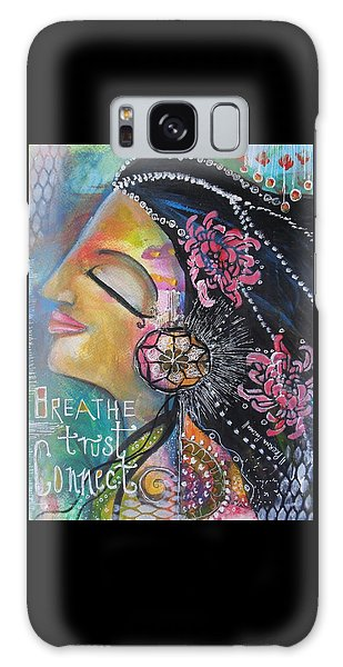 Side Face With Words Galaxy Case by Prerna Poojara