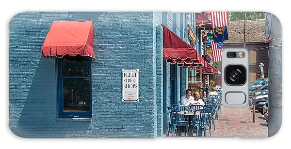 Galaxy Case featuring the photograph Sidewalk Cafe Annapolis by Charles Kraus