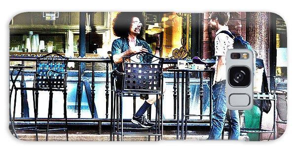 048 - Sidewalk Cafe Galaxy Case