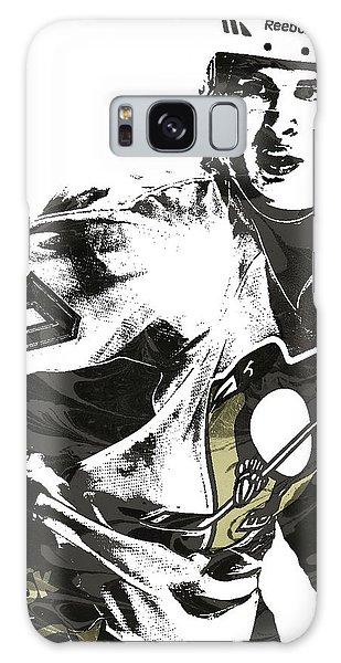 Sidney Crosby Pittsburgh Penguins Pixel Art Galaxy Case by Joe Hamilton