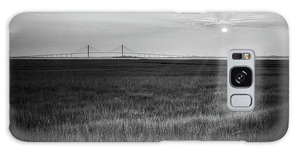 Sidney Lanier At Sunset In Black And White Galaxy Case