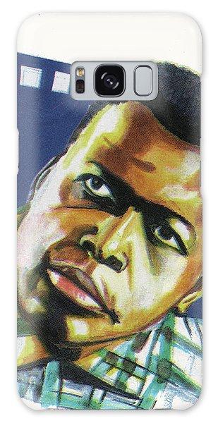 Sidney Poitier Galaxy Case by Emmanuel Baliyanga
