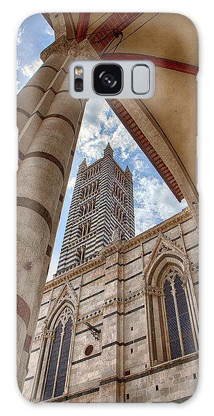 Siena Cathedral Tower Framed By Arch Galaxy Case