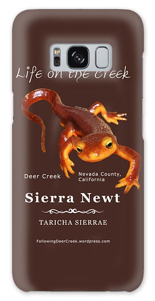 Sierra Newt - Color Newt - White Text Galaxy Case