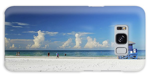 Galaxy Case featuring the photograph Siesta Key Life Guard Shack by Gary Wonning