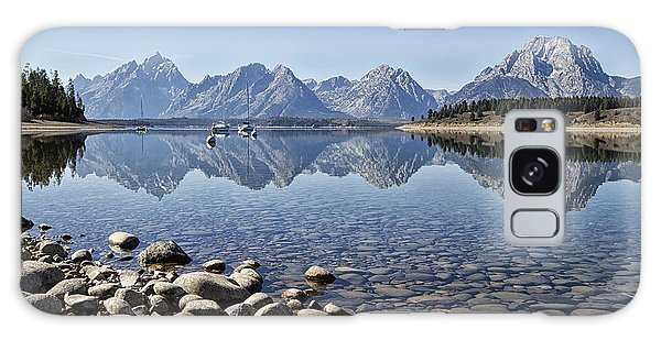 Jackson Lake  Near Signal Mountain Lodge Galaxy Case by Shirley Mitchell