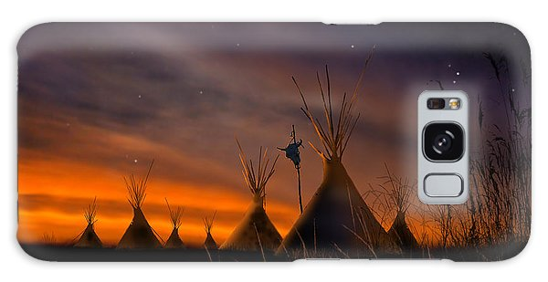 Native American Galaxy Case - Silent Teepees by Paul Sachtleben