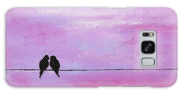 Silhouette Birds Two Galaxy Case