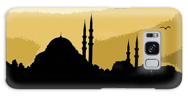 Silhouette Of Mosques In Istanbul Galaxy Case