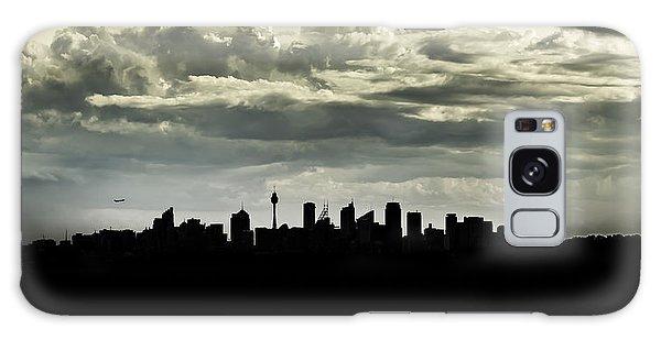 Silhouette Of Sydney Galaxy Case