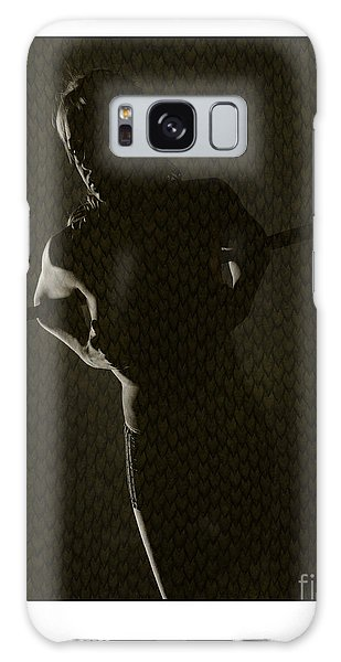 Silhouette Of Topless Girl Galaxy Case