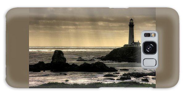 Silhouette Sentinel - Pigeon Point Lighthouse - Central California Coast Spring Galaxy Case