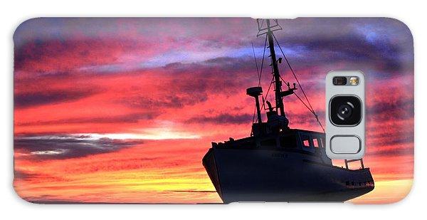 Silhouette Sunset Galaxy Case