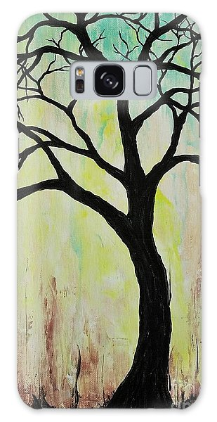 Silhouette Tree 2018 Galaxy Case