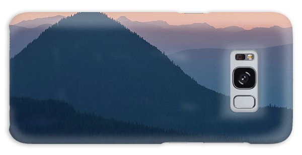 Silhouettes At Sunset, No. 2 Galaxy Case