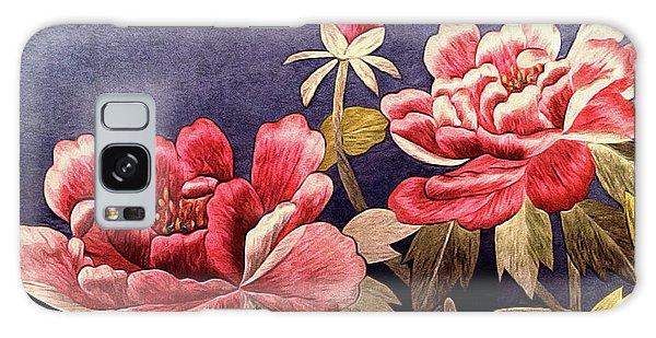 Silk Peonies - Kimono Series Galaxy Case