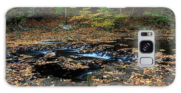 Silky New England Stream In Autum Galaxy Case