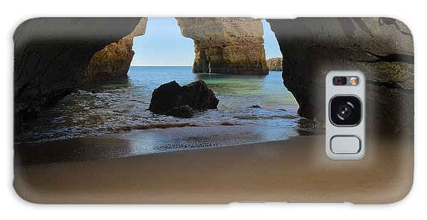 Silky Sands And Arch Galaxy Case by Angelo DeVal