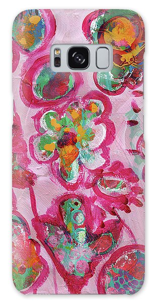 Silly Flowers Galaxy Case