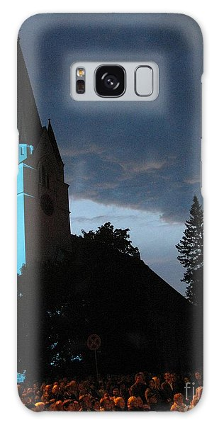 Galaxy Case featuring the photograph Silute Lutheran Evangelic Church Lithuania by Ausra Huntington nee Paulauskaite