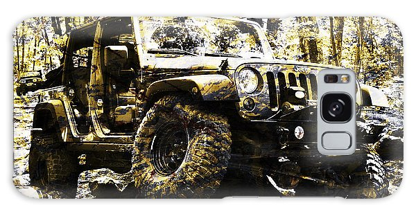 Silver And Gold Jeep Wrangler Jku Galaxy Case