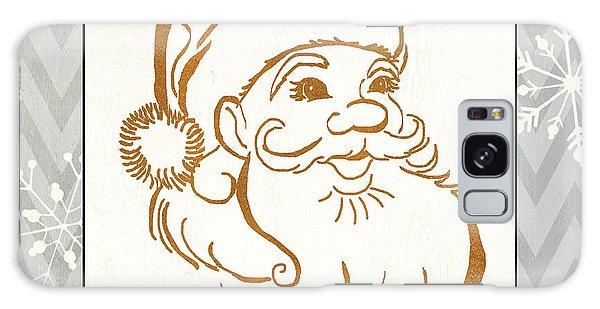 Santa Claus Galaxy Case - Silver And Gold Santa by Debbie DeWitt