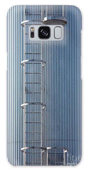 Silver Blue Silo With Steel Ladder. Galaxy Case