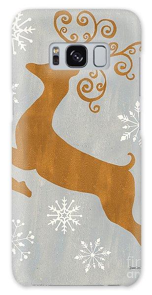 Antlers Galaxy Case - Silver Gold Reindeer by Debbie DeWitt
