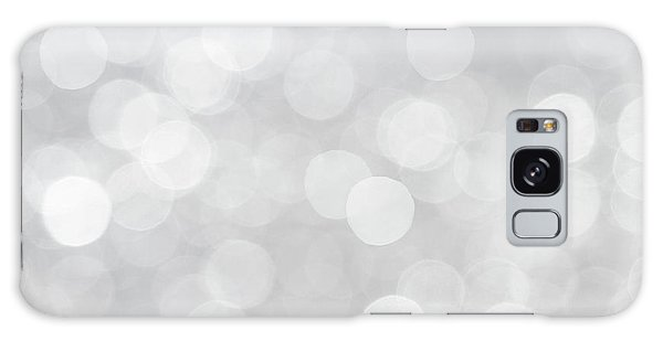 Silver Grey Bokeh Abstract Galaxy Case by Peggy Collins