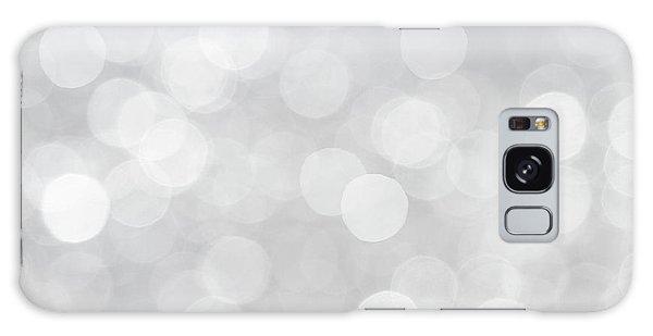 Silver Grey Bokeh Abstract Galaxy Case