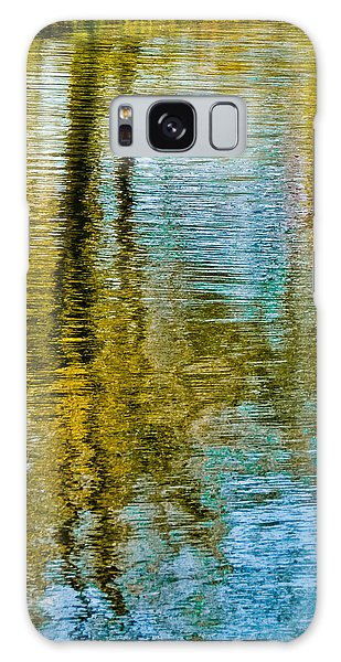 Silver Lake Autum Tree Reflections Galaxy Case