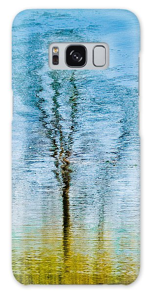 Silver Lake Tree Reflection Galaxy Case