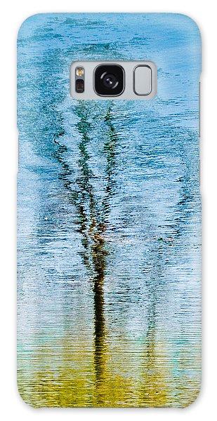 Silver Lake Tree Reflection Galaxy Case