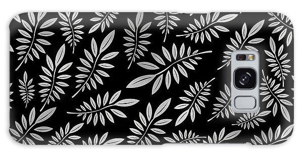 Silver Leaf Pattern 2 Galaxy Case by Stanley Wong