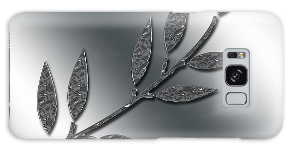 Silver Leaves Abstract Galaxy Case