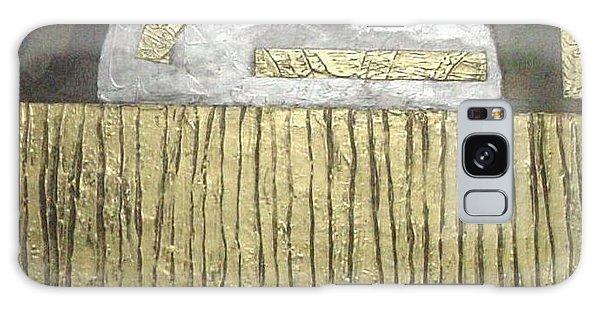 Silver Moon Galaxy Case by Bernard Goodman