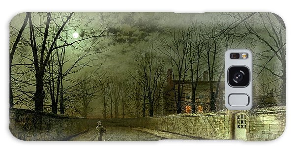 Storming Galaxy Case - Silver Moonlight by John Atkinson Grimshaw