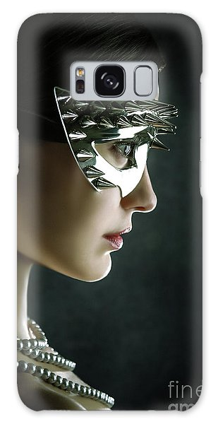 Galaxy Case featuring the photograph Silver Spike Beauty Mask by Dimitar Hristov