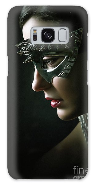 Galaxy Case featuring the photograph Silver Spike Eye Mask by Dimitar Hristov