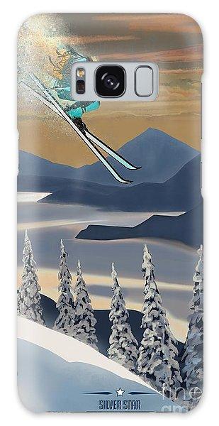 Silver Star Ski Poster Galaxy Case