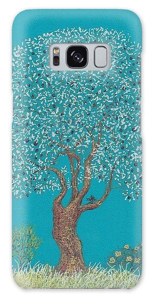 Silver Tree Galaxy Case