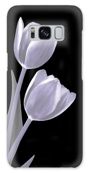 Silver Tulips Galaxy Case