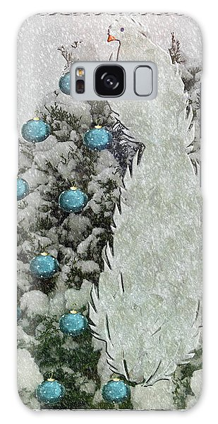 Silver Winter Bird Galaxy Case