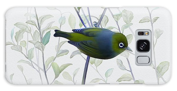 Galaxy Case featuring the painting Silvereye by Ivana Westin
