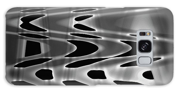Silvery Abstraction Bw  Galaxy Case